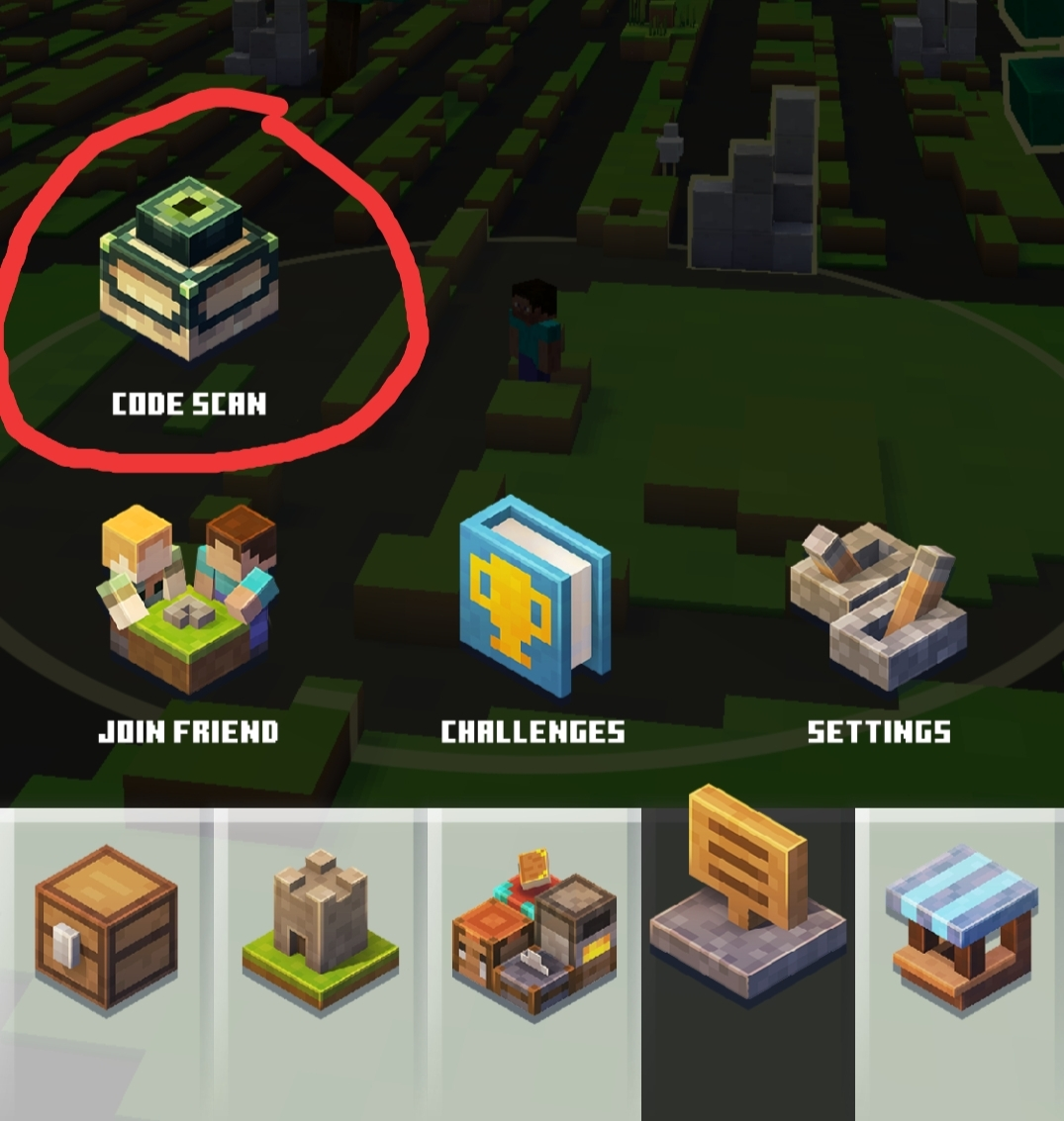 MInecraft Earth Code Scan