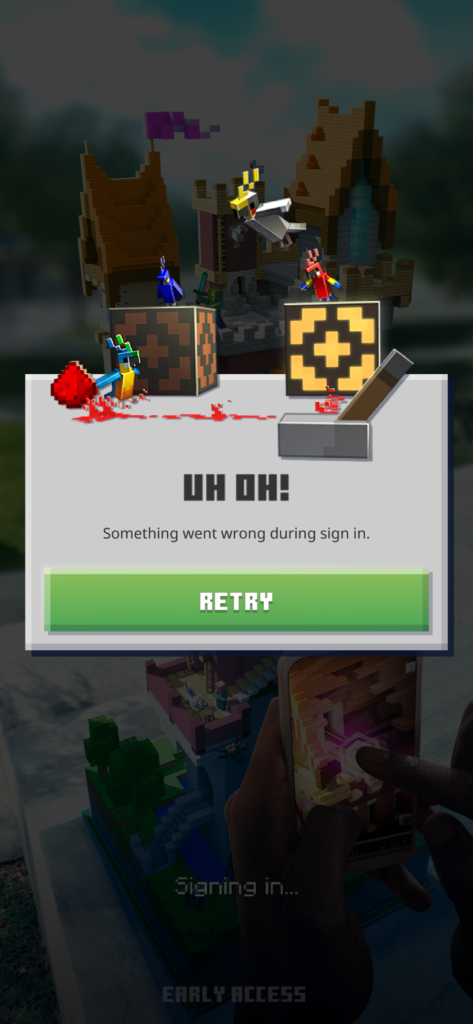 "[Solved] Minecraft Earth Error ""Uh Oh! Something Went Wrong During Sign In"""