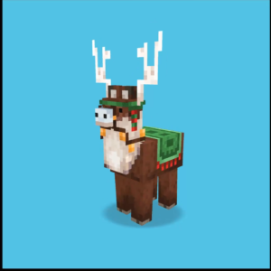 Jolly Llama in Minecraft Earth