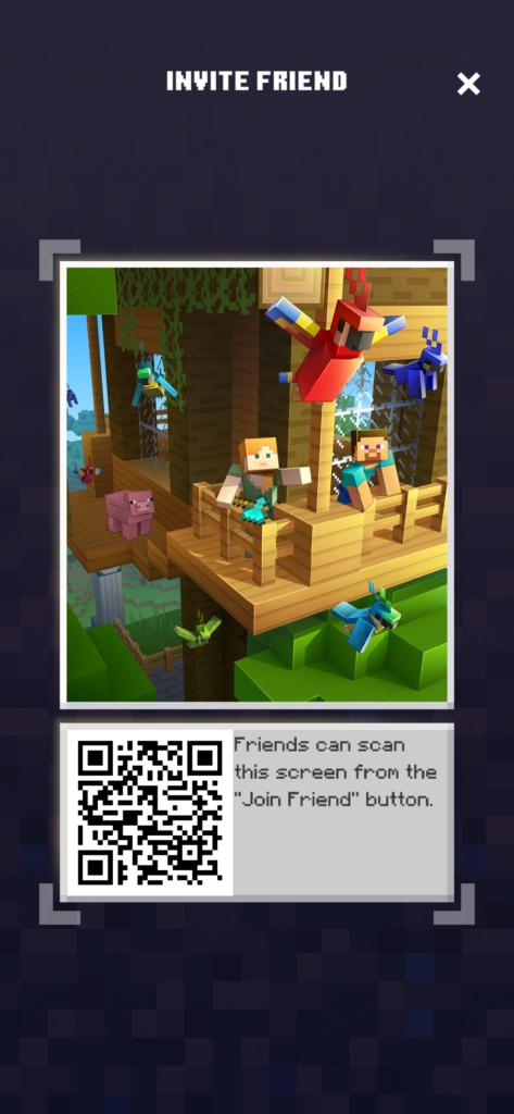 Invite Friends in Minecraft Earth