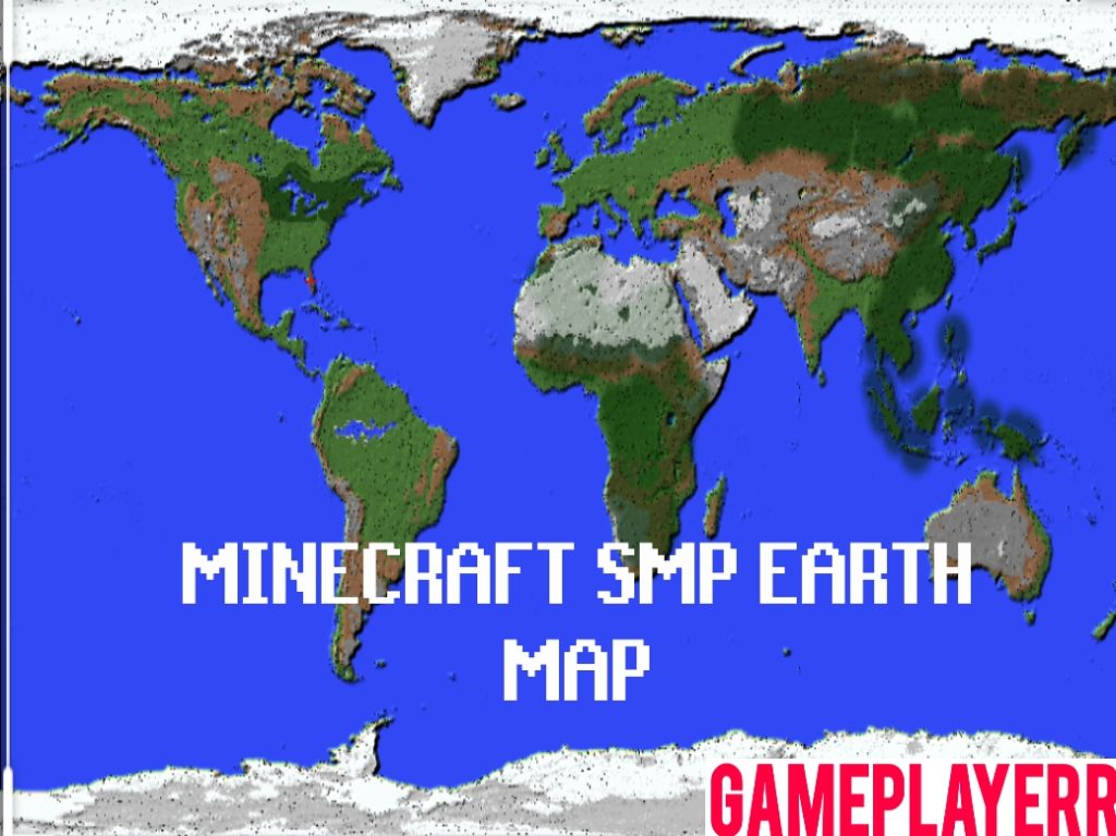 Minecraft SMP Earth Map Server | Live Map Download [1:3000 ...