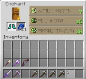 enchant boots with depth strider