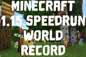 Minecraft 1.15 Speedrun World Record