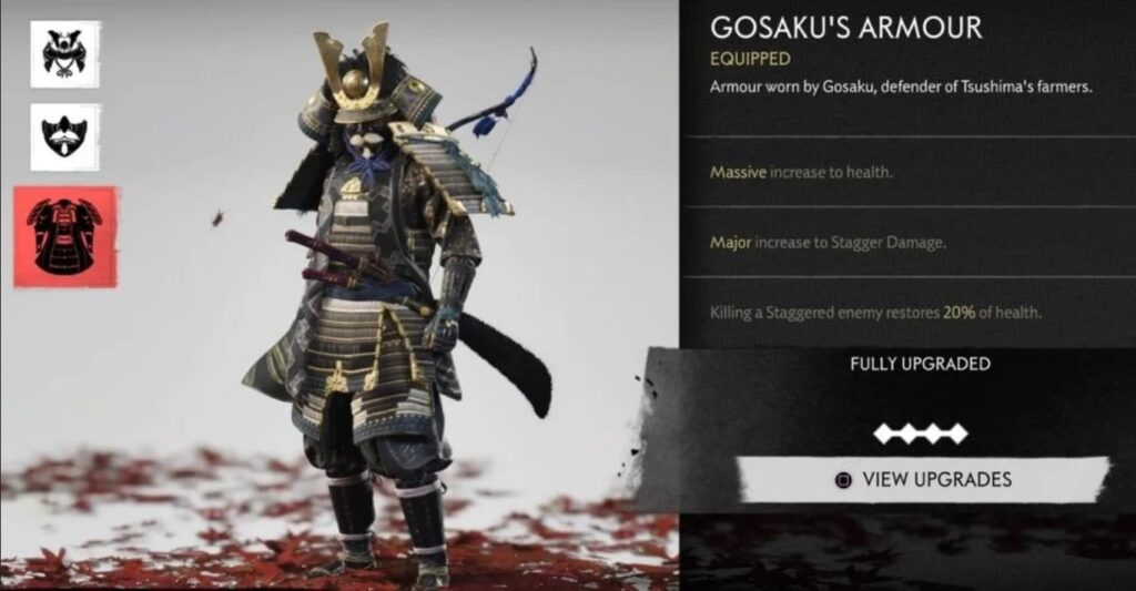 ghost of tsushima gosaku armor