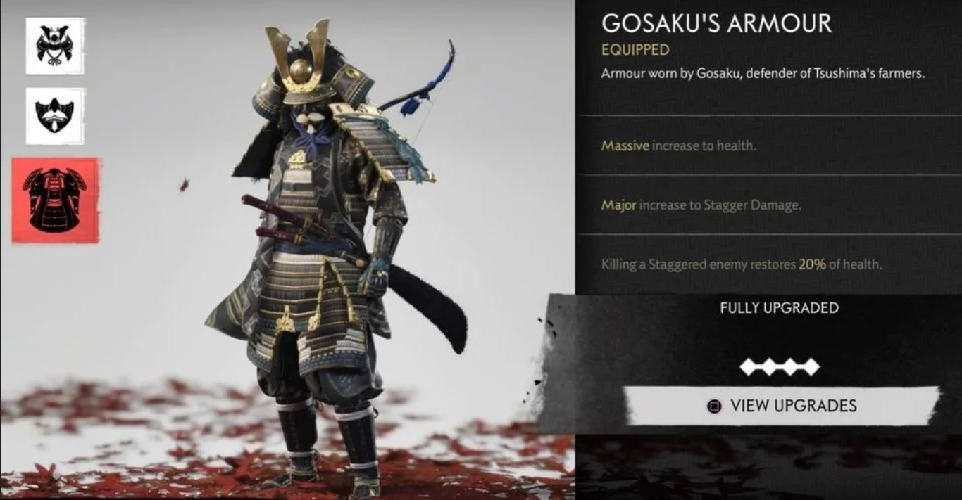 ghost of tsushima gosaku armor