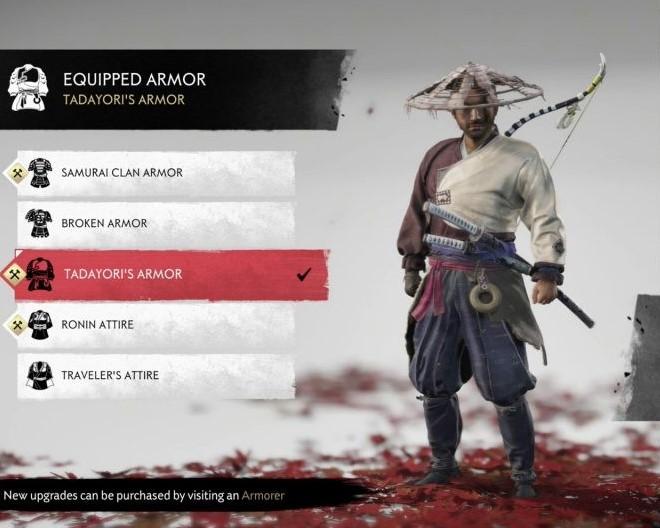 ghost of tsushima tada yori armor