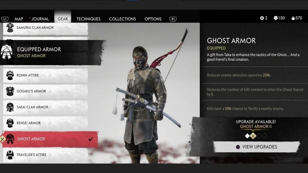 how to get ghost armor in ghost of tsushima