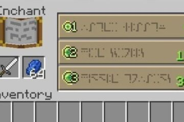 minecraft enchantment table language
