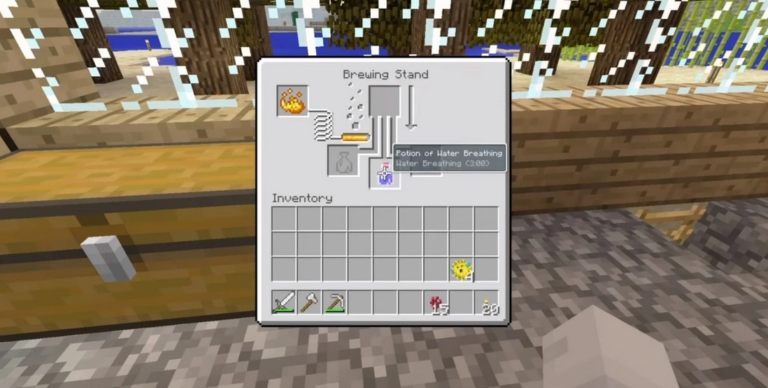 minecraft water breathing potion
