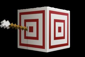 target block in minecraft logo