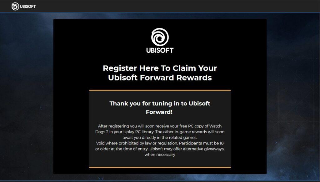 ubisoft forward free game