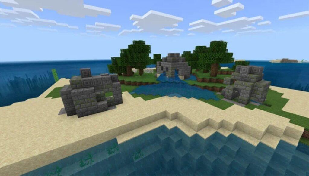 Minecraft Survival Island Seeds image 1
