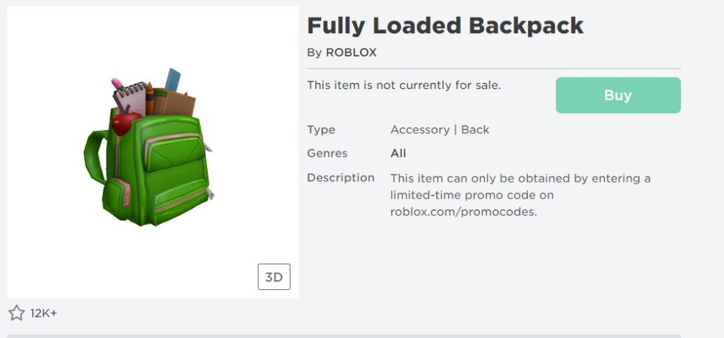 Working Roblox Promo Codes June Roblox Promo Codes September 2020 Fully Loaded Backpack Free Gameplayerr