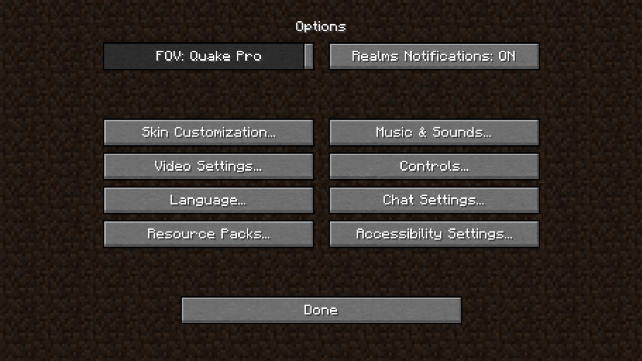 Optifine settings for fps