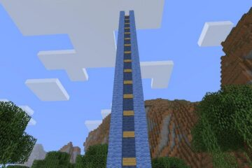 how to make water elevator in minecraft image
