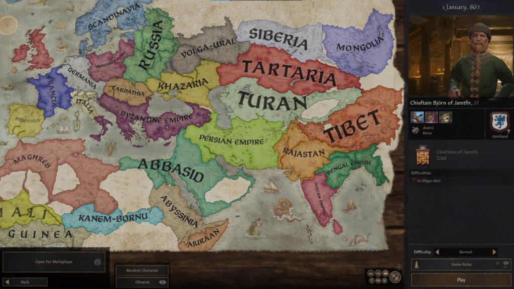 crusader kings playable nations