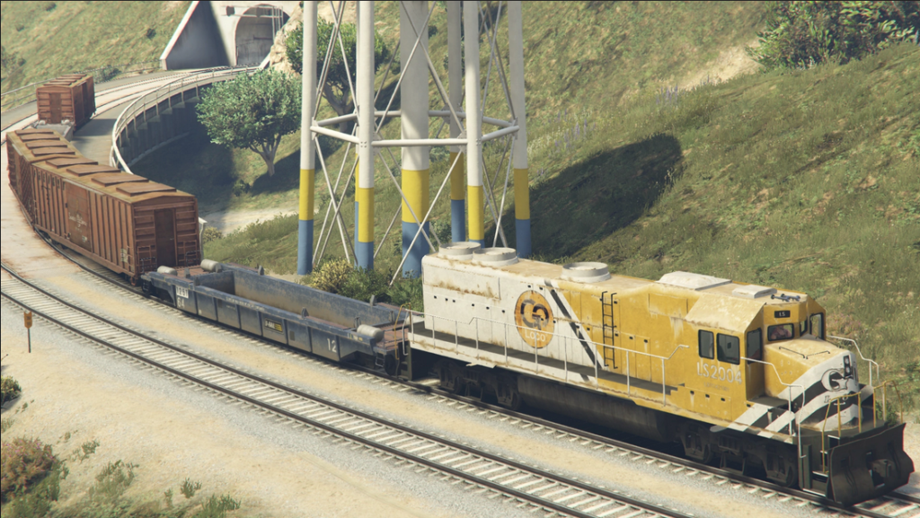 how to stop the train in gta 5