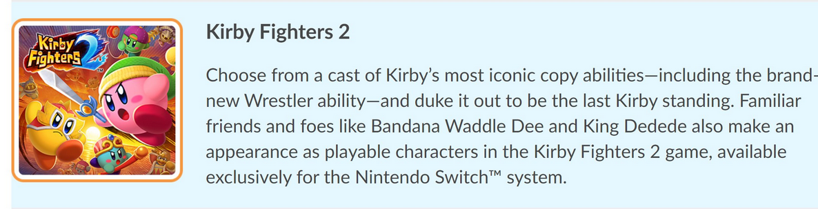 kirby fighters 2 revealed