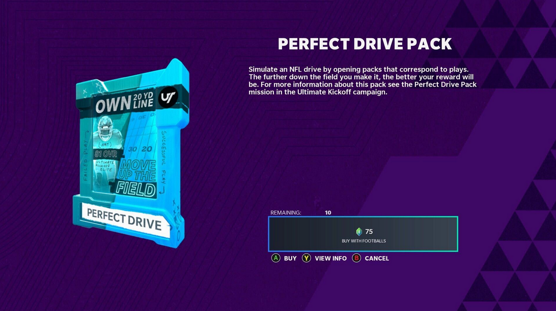 perfect drive pack madden 21