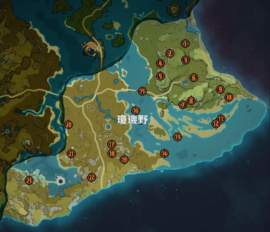 genshin impact geoculus locations