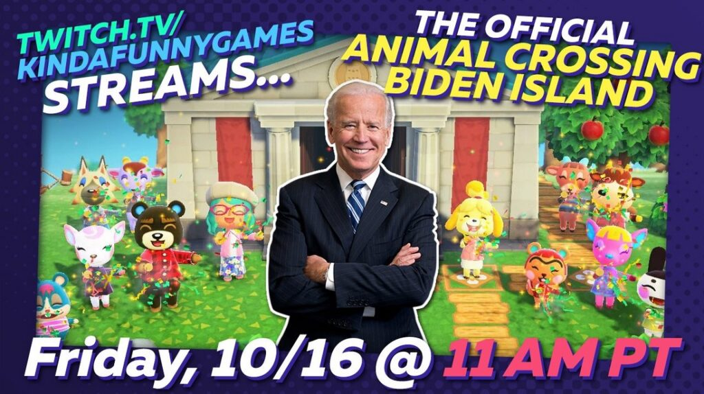 joe biden animal crossing island