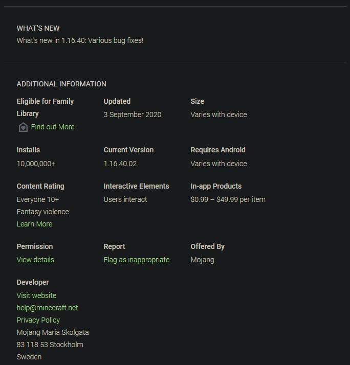 minecraft 1.16.4 apk