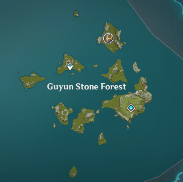 how to get to guyun stone forest genshin impact