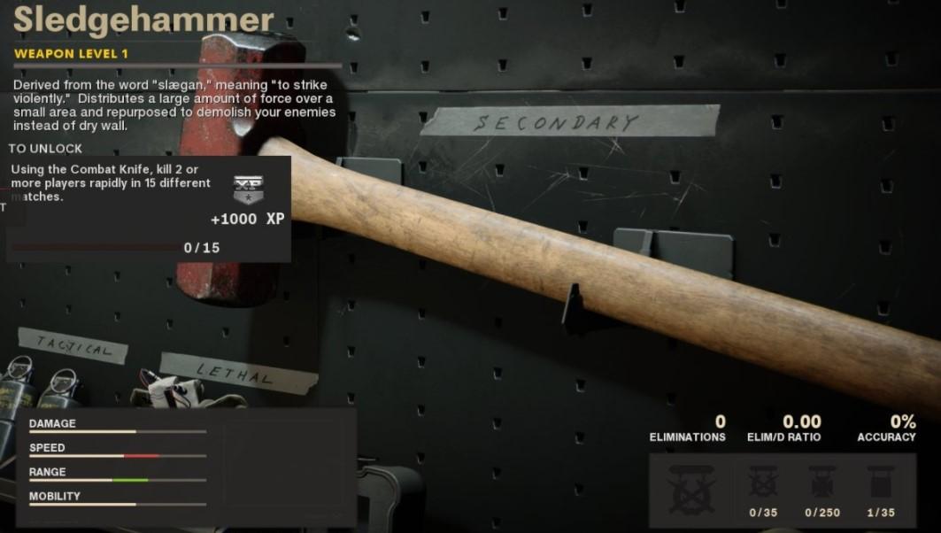 black ops cold war unlock sledgehammer