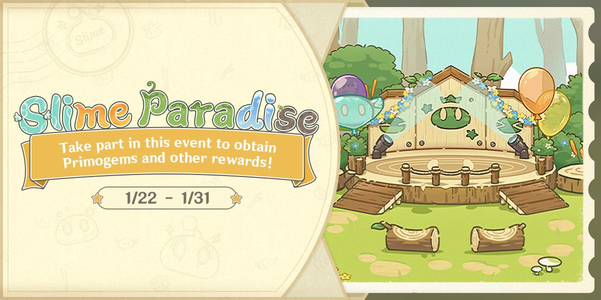 Genshin Impact Web Event Slime Paradise
