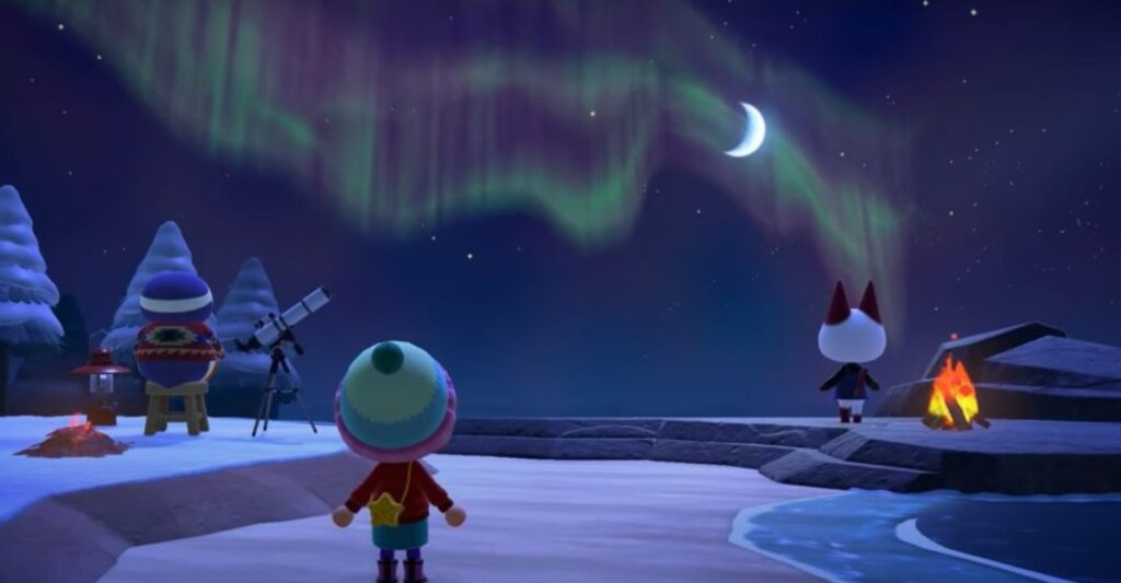 animal crossing aurora borealis