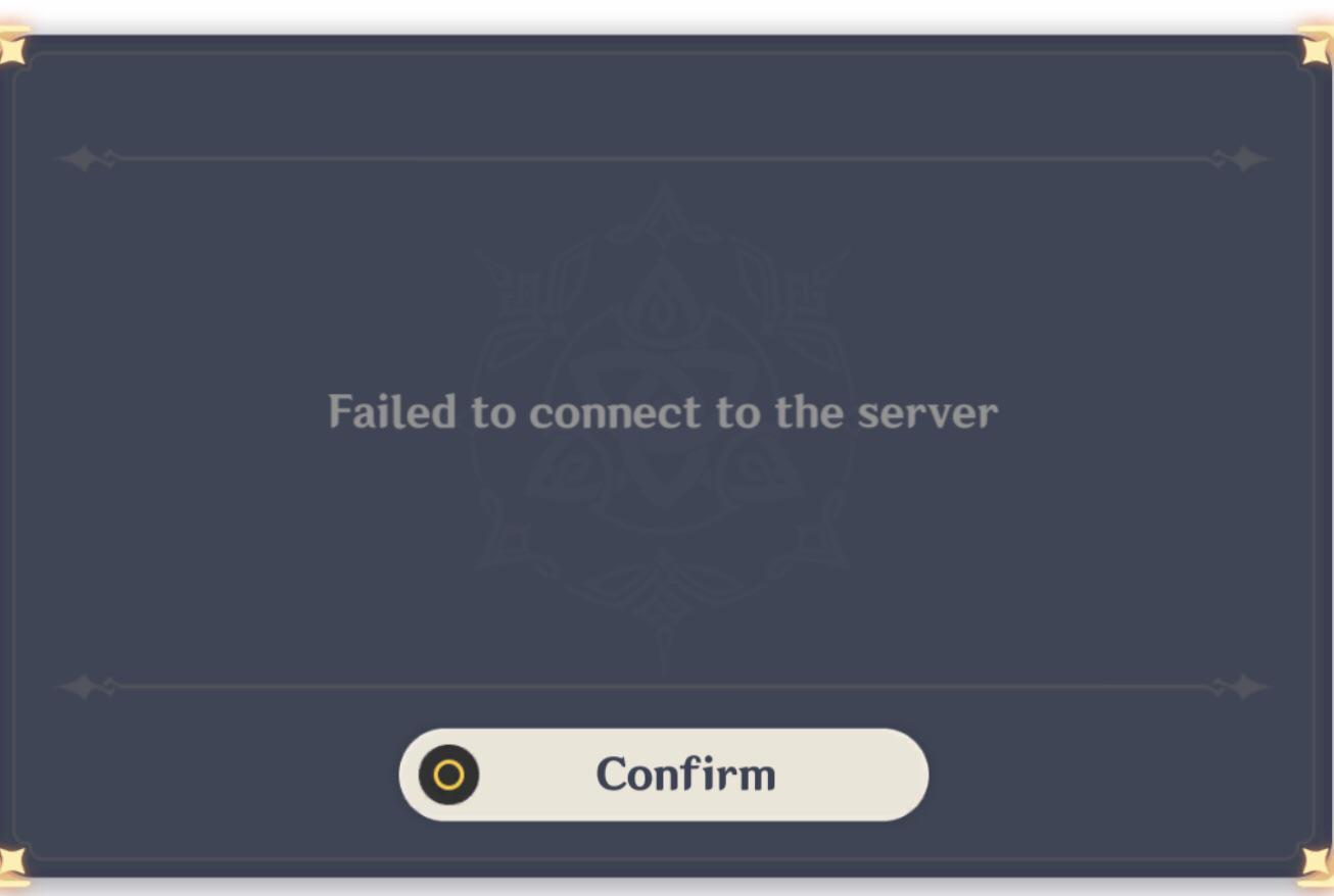 Genshin Impact Network Error on PS4