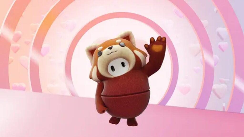 fall guys red panda costume