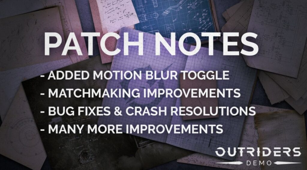 outriders demo update 1.05