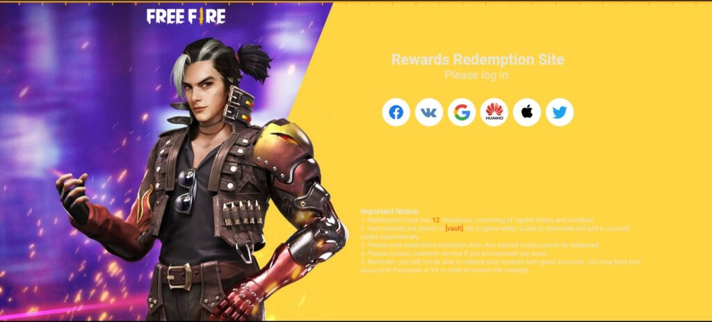 how to use redeem code in free fire april 2021
