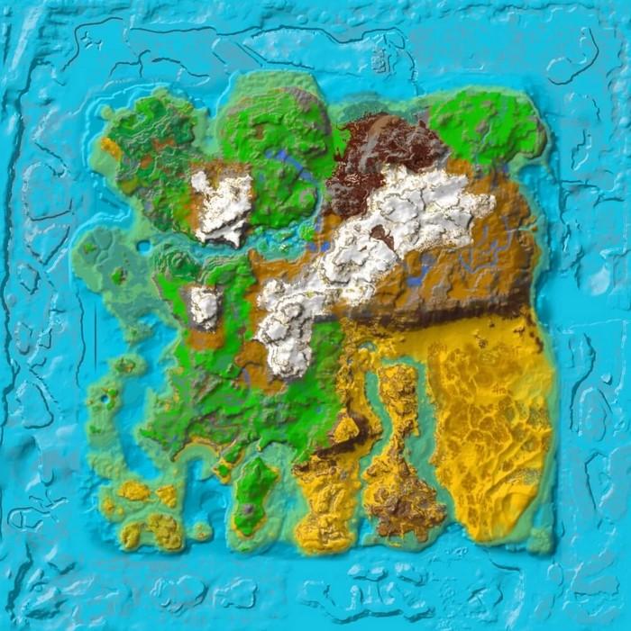 ark survival evolved ragnarok resource map