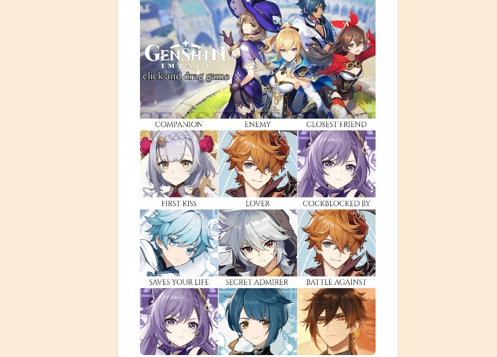 genshin impact click and drag game