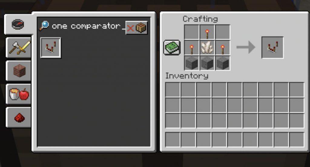 Minecraft Redstone Comparator Recipe